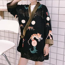 Load image into Gallery viewer, Harajuku Tiger Printing Kimono Bathrobe SP1812497