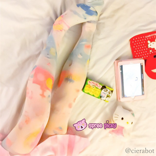 Helium Balloons Cartoons Printing Tights SP140396 - SpreePicky  - 1