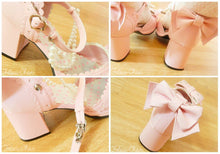 Load image into Gallery viewer, Little Mermaid Pearl Bead Bow Lolita Princess Platform Shoes SP140388 - SpreePicky  - 5