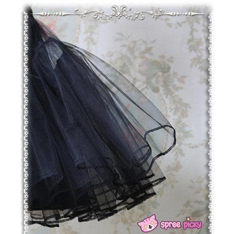 Lolita Black/White Supper Strong Fluffy Layers Petticoat Skirt SP152074 - SpreePicky  - 2
