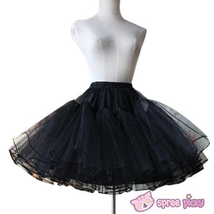 Lolita Black/White Supper Strong Fluffy Layers Petticoat Skirt SP152074 - SpreePicky  - 1