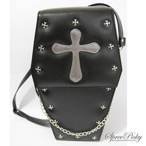 Lolita Gothic Coffin Bag 3 Ways-Crossbody/Hand Bag/Backpack SP140420 - SpreePicky  - 2