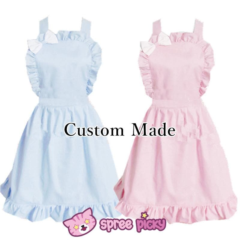 Lolita Kawaii Bow Maid Apron Free Ship SP141124 - SpreePicky  - 1