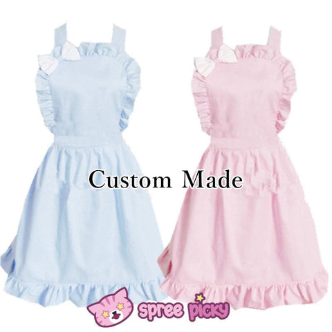 Lolita Kawaii Bow Maid Apron Free Ship SP141124