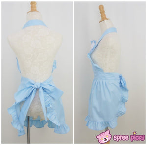 Lolita Kawaii Bow Maid Apron Free Ship SP141124 - SpreePicky  - 3