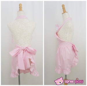 Lolita Kawaii Bow Maid Apron Free Ship SP141124 - SpreePicky  - 4