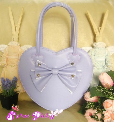 6 Colors Lolita Heart Shape Lady Hand Bag SP140459 - SpreePicky  - 3