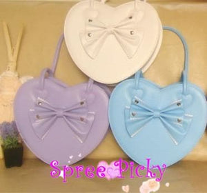 6 Colors Lolita Heart Shape Lady Hand Bag SP140459 - SpreePicky  - 4