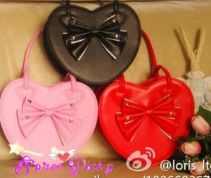 6 Colors Lolita Heart Shape Lady Hand Bag SP140459 - SpreePicky  - 5