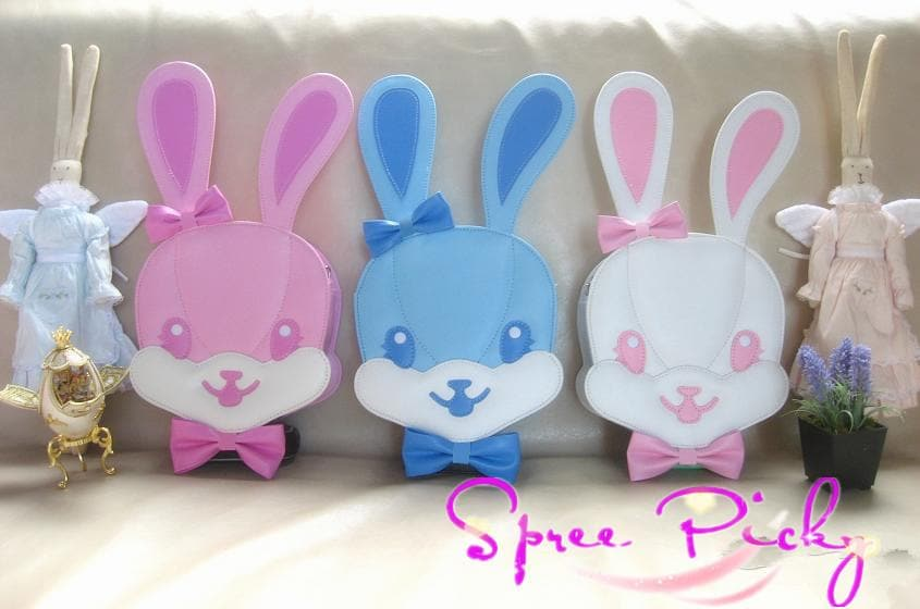 Lolita lovely rabbit head bag - 3 colors - SP140454 - SpreePicky  - 1