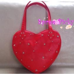 Lolita lovely stars rivet of heart hand bag - 3 colors - SP140443 - SpreePicky  - 1