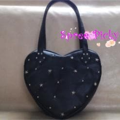 Lolita lovely stars rivet of heart hand bag - 3 colors - SP140443 - SpreePicky  - 2