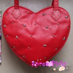 Lolita lovely stars rivet of heart hand bag - 3 colors - SP140443 - SpreePicky  - 5