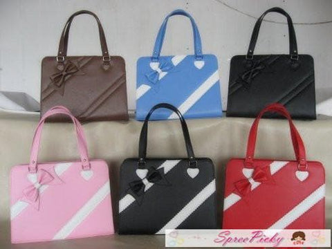 Lolita lovely winter ribbon bow bag - 6 colors -SP140464 - SpreePicky  - 1