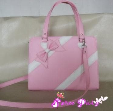Lolita lovely winter ribbon bow bag - 6 colors -SP140464 - SpreePicky  - 4