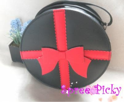 Lolita round bag with bow - 3 colors -SP140447 - SpreePicky  - 3