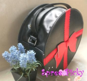 Lolita round bag with bow - 3 colors -SP140447 - SpreePicky  - 4