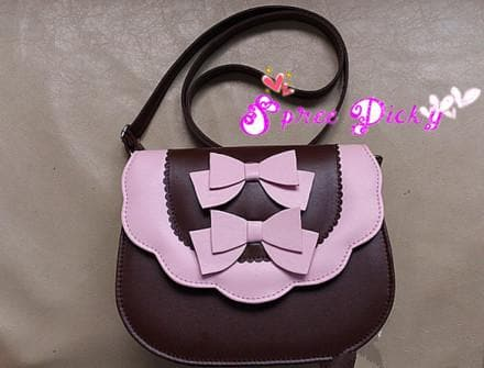 Lolita sweet double bows bag - 7 colors - SP140453 - SpreePicky  - 2