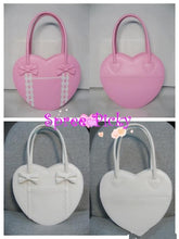 Load image into Gallery viewer, Lolita winter heart with ribbon hand bag - 8 colors - free shipping SP140456 - SpreePicky  - 2