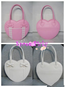 Lolita winter heart with ribbon hand bag - 8 colors - free shipping SP140456 - SpreePicky  - 2