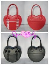 Load image into Gallery viewer, Lolita winter heart with ribbon hand bag - 8 colors - free shipping SP140456 - SpreePicky  - 3