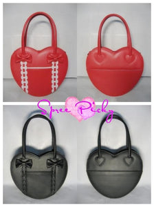 Lolita winter heart with ribbon hand bag - 8 colors - free shipping SP140456 - SpreePicky  - 3