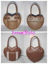 Load image into Gallery viewer, Lolita winter heart with ribbon hand bag - 8 colors - free shipping SP140456 - SpreePicky  - 4