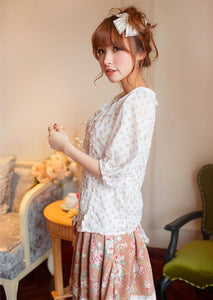 Loose Dots Half Sleeve Blouse Top SP140556 - SpreePicky  - 2