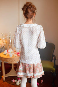 Loose Dots Half Sleeve Blouse Top SP140556 - SpreePicky  - 4