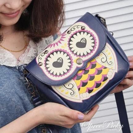 Owl Shoulder Crossbody Hand Bag 3 Ways Using SP140410 - SpreePicky  - 2
