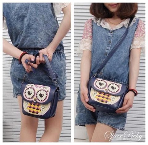 Owl Shoulder Crossbody Hand Bag 3 Ways Using SP140410 - SpreePicky  - 3