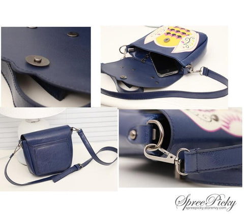 Owl Shoulder Crossbody Hand Bag 3 Ways Using SP140410 - SpreePicky  - 4