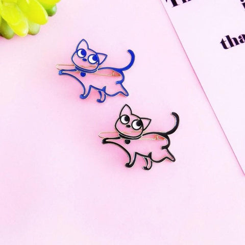Pink/Blue/Black Sailor Moon Kitty Hair Clip SP1711097