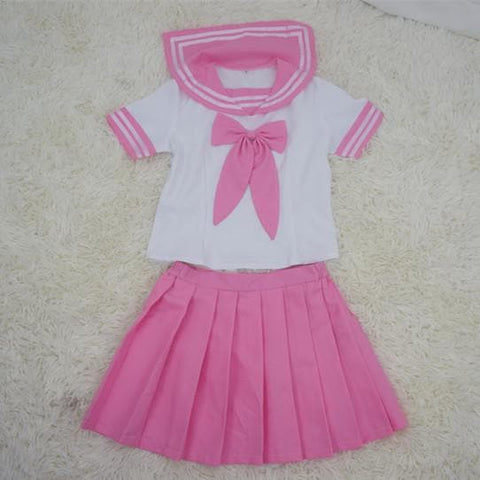 {Set}Pink Sailor Seifuku School Uniform  Top and Pleated Skirt SP140879 - SpreePicky  - 3