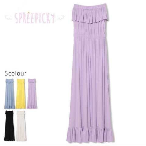 Pure Color Flouncing Sundress SP140578 - SpreePicky  - 4