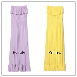 Pure Color Flouncing Sundress SP140578 - SpreePicky  - 5
