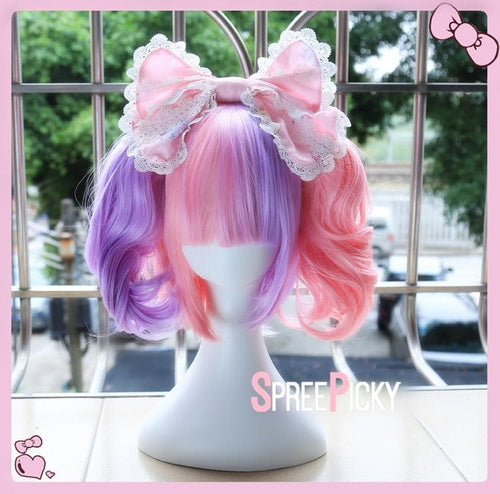 Purple & Pink Lolita Curl Tailed Wig SP1711327