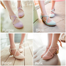 Load image into Gallery viewer, Round Toe Bandage Thick Heels Sandal Shoes SP140922 - SpreePicky  - 1