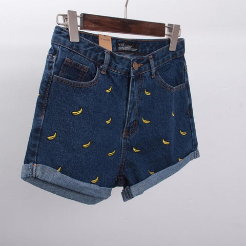 S/M/L Banana Denim Jeans Short SP152174 - SpreePicky  - 3