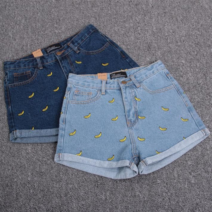 S/M/L Banana Denim Jeans Short SP152174 - SpreePicky  - 1