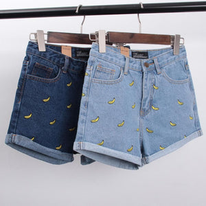 S/M/L Banana Denim Jeans Short SP152174 - SpreePicky  - 2