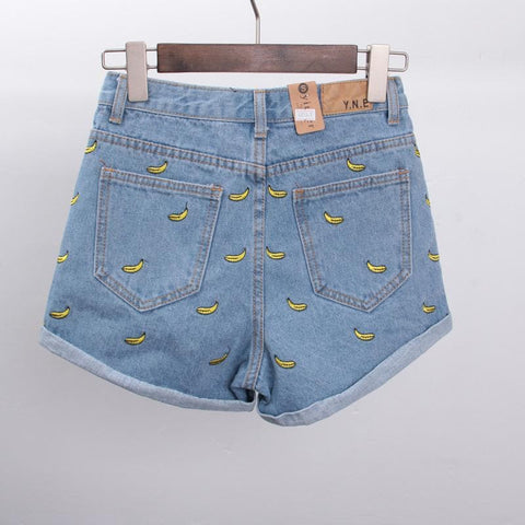 S/M/L Banana Denim Jeans Short SP152174 - SpreePicky  - 4