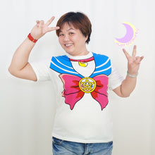 Load image into Gallery viewer, S-3XL [Sailor Moon] Short Sleeve Senshi Seifuku Printing Cotton T-Shirt SP140524 - SpreePicky  - 9