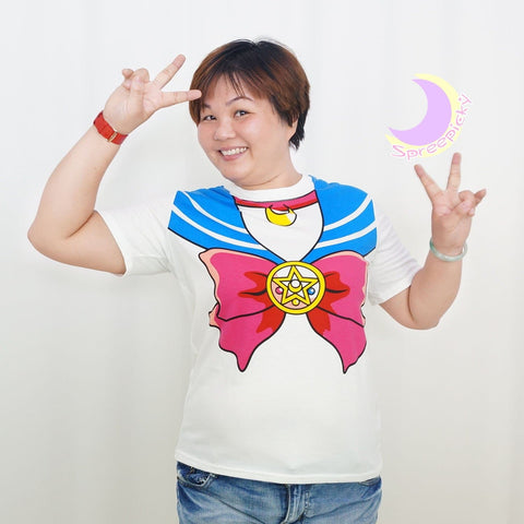 S-3XL [Sailor Moon] Short Sleeve Senshi Seifuku Printing Cotton T-Shirt SP140524 - SpreePicky  - 9
