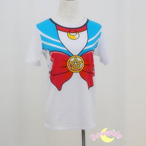 S-3XL [Sailor Moon] Short Sleeve Senshi Seifuku Printing Cotton T-Shirt SP140524 - SpreePicky  - 11