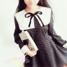 Load image into Gallery viewer, Sailor School Uniform Vintage Grids Dress SP141341 - SpreePicky  - 2