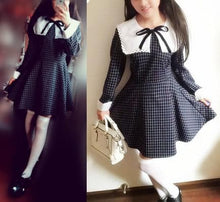 Load image into Gallery viewer, Sailor School Uniform Vintage Grids Dress SP141341 - SpreePicky  - 3
