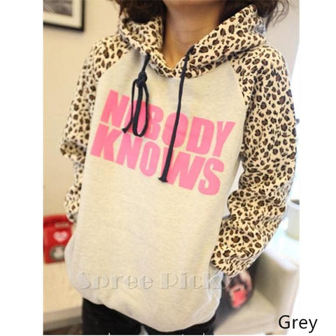 Size S-XL Autumn Cute Leopard Printing Sleeves Jumper Sweater SP141420 - SpreePicky  - 1