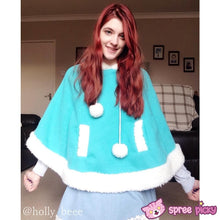 Load image into Gallery viewer, [8 Colors] Winter Candy Fleece Cloak Coat Hoodie Cape SP141334 - SpreePicky  - 6