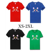 XS-2XL Sailor Moon Luna T-shirt SP152231 - SpreePicky  - 1